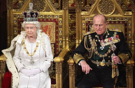 Queen Elizabeth II and her husband Prince Philip.