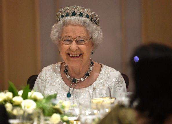 Queen eating