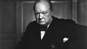 Former British prime minister Winston Churchill.