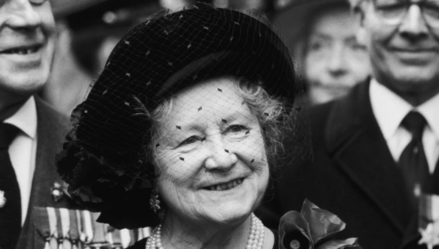 9th November 1984: The Queen Mother (1900 - 2002) at a Remembrance Sunday memorial service