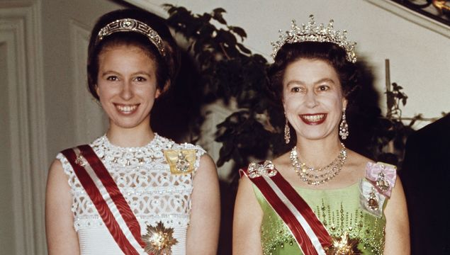 Queen Elizabeth II and Princess Anne attend a function at the Hotel Imperial in Vienna, during a State Visit to Austria, 7th May 1969