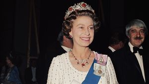 Queen Elizabeth II photographed in 1977.