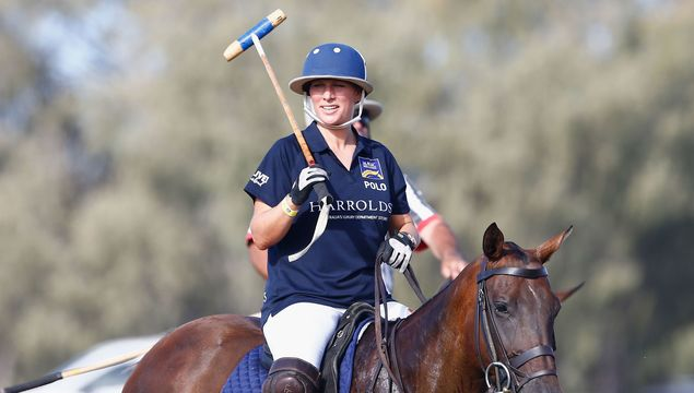 Zara Phillips in action at the Magic Millions Polo Event on January 8, 2017 in Gold Coast, Australia