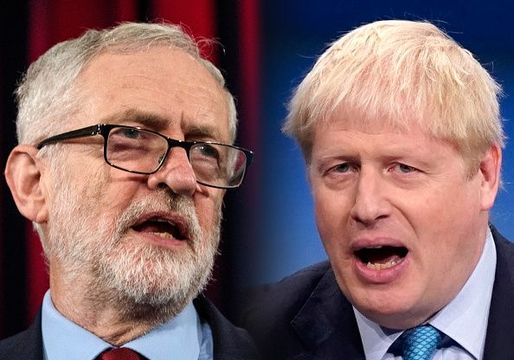 Jeremy Corbyn, Labour Leader (L) and Boris Johnson, Prime Minister and Conservative Leader.