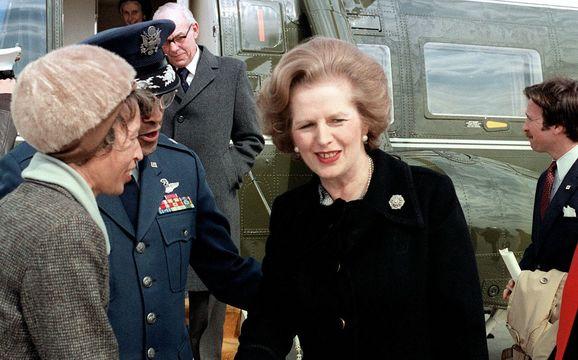 British prime minister Margaret Thatcher.