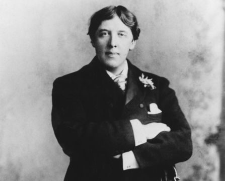 Author and playwright Oscar Wilde.