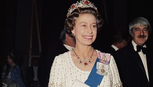 Queen Elizabeth II, photographed in 1977.