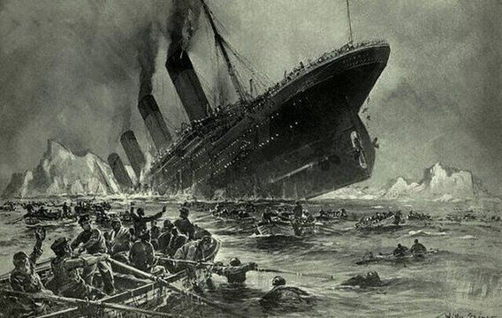 Untergang der Titanic by Willy Stower