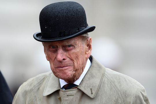 Prince Philip, Duke of Edinburgh, in his role as Captain General, Royal Marines, makes his final individual public engagement as he attends a parade to mark the finale of the 1664 Global Challenge, on the Buckingham Palace Forecourt on August 2, 2017 in London, England.