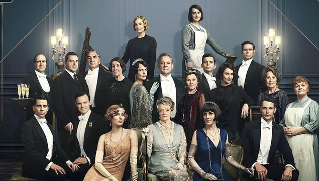 The full cast from the Downton Abbey movie