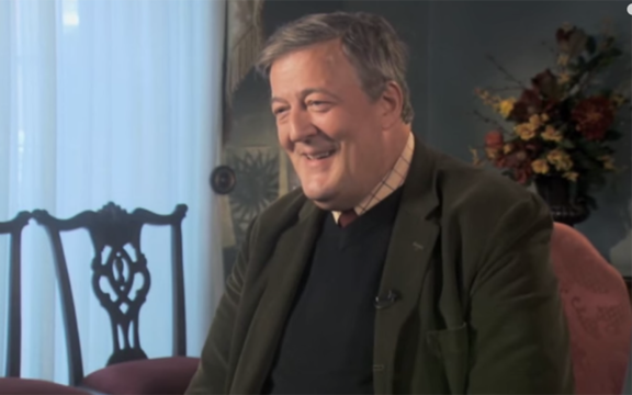 The voice of Harry Potter audiobooks, Stephen Fry.