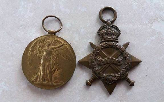 The two World War I medals found belonging to Private Patrick Ryan.