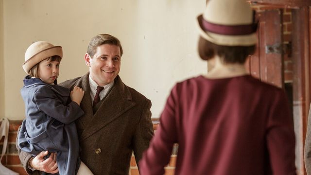 Allen Leech as Tom Branson in season six of Downton Abbey