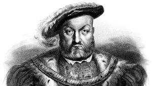 Engraving From 1876 Of King Henry VIII