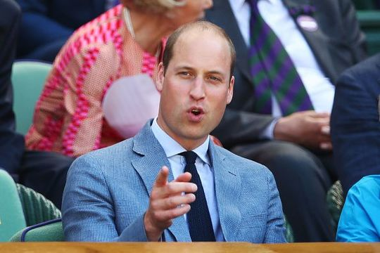 Prince William, Duke of Cambridge attends the Men\'s Singles final on day thirteen of the Wimbledon Lawn Tennis Championships
