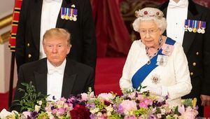Donald Trump and Queen Elizabeth