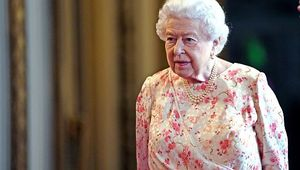 Queen Elizabeth II as she views the exhibition to mark the 200th anniversary of the birth of Queen Victoria