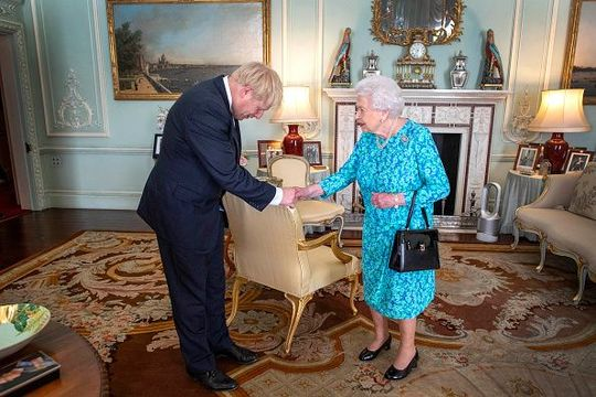 Boris Johnson and Queen Elizabeth
