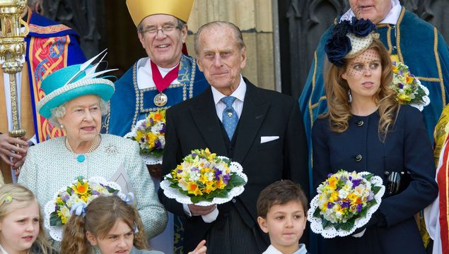 Princess Beatrice and Edoardo Mapelli Mozzi attend the Portrait Gala at National Portrait Gallery on March 12, 2019 in London, EnglandQueen Elizabeth II, Prince Philip, Duke of Edinburgh (L) and Princess Beatrice attend a Maundy Thursday Service at York Minster on April 5, 2012 in York, England