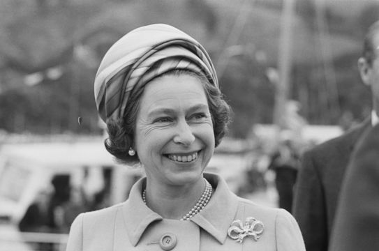 Queen Elizabeth II during a visit to New Zealand, March 1970.