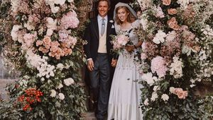 Princess Beatrice and her fiancee, Edoardo Mapelli Mozzi on their wedding day.