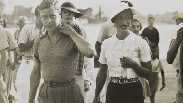 Edward and Wallis Simpson on vacation in Yugoslavia, in 1936.