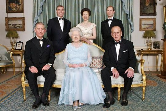 Queen Elizabeth II and the immediate Royal Family.