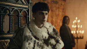 Timothée Chalamet as King Henry V in The King