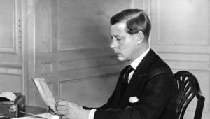 King Edward VIII (1894 - 1972) during his short reign. He was created the Duke of Windsor in 1937 after his abdication in December 1936.