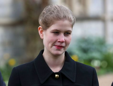 Lady Louise Windsor photographed at Church, in April 2021.