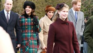 Lady Louise Windsor with some of the rest of the Royal Family on Christmas Day.