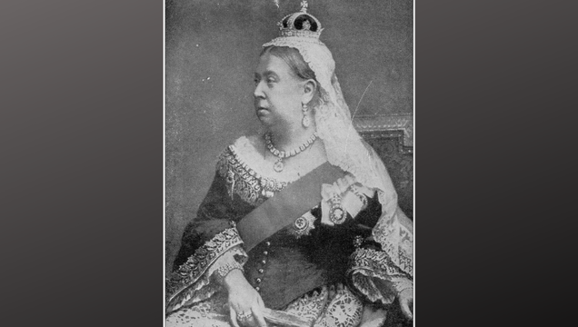 Queen Victoria (1819 - 1901), monarch of the United Kingdom of Great Britain and Ireland from 1837 until her death. From 1876, she used the additional title of Empress of India. According to her, a whole era was named - the Victorian Era. Woodcut engraving, published in 1881.
