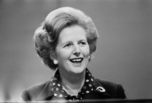 British Conservative Party politician and Prime Minsiter of the United Kingdom Margaret Thatcher (1925 - 2013) at the Conservative Party Conference in Brighton, UK, 10th October 1980. (Photo by Colin Davey/Evening Standard/Hulton Archive/Getty Images)
