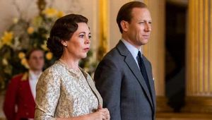 Olivia Colman and Toby Menzies as Queen Elizabeth and Prince Philip