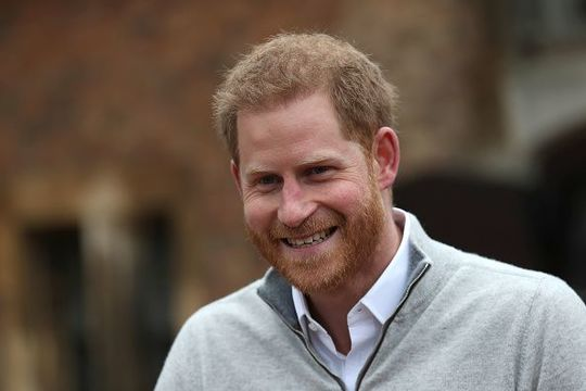 Prince Harry, Duke of Sussex speaks to the media at Windsor Castle following the birth of his son on May 06, 2019 in Windsor, United Kingdom. Meghan, Duchess of Sussex gave birth to a baby boy weighing 7lbs 3oz at 05:26 BST. (Photo by Steve Parsons - WPA Pool/Getty Images)