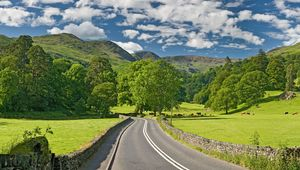 The A591 road, in the Lake District.