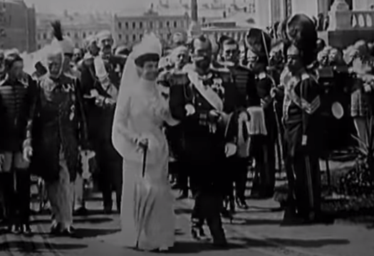 """Still from the British Pathe video \""""8 Monarchies That No Longer Exist\""""."""
