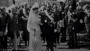"Still from the British Pathe video ""8 Monarchies That No Longer Exist\""."
