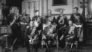 May 1910: Nine Kings assembled at Buckingham Palace for the funeral of Edward VII, the Father of George V (centre).