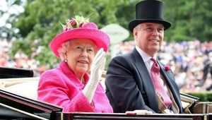 Prince Andrew and Queen Elizabeth.