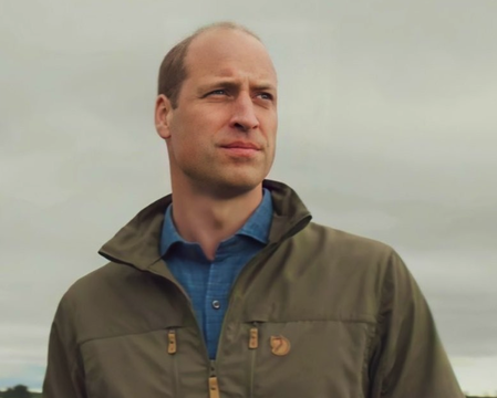 """A promo shot of Prince William for the documentary series \""""A Planet For Us All\""""."""