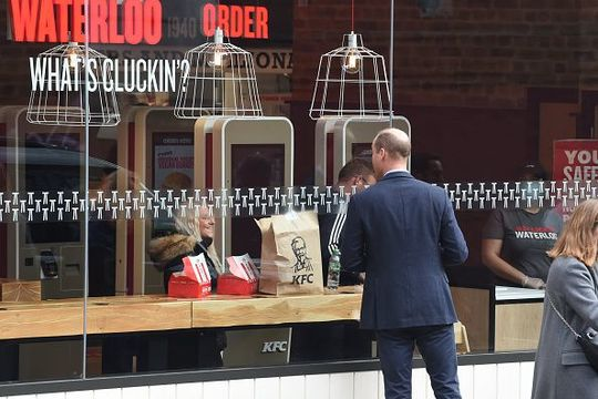 Prince William outside a KFC