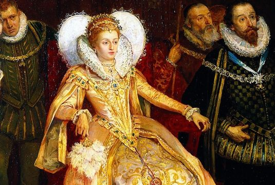 Queen Elizabeth I, a portrait by Henry Gillard Glindoni.