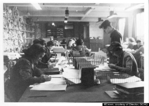Workers in Bletchley Park.