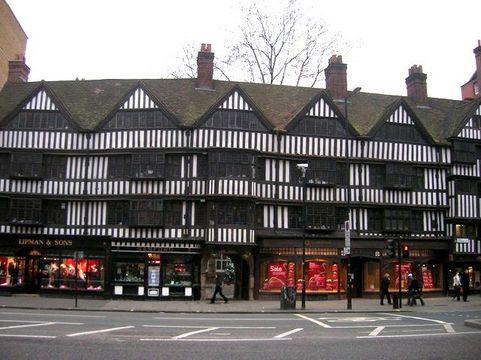 Staple Inn, on Chancery Lane, London.