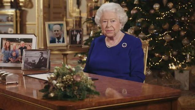 Queen Elizabeth giving the Christmas speech in 2019.