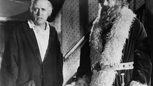 Alastair Sim as Scrooge and Francis De Wolff in the 1951 adaptation of Charles Dickens\' Christmas Carol.