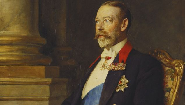 A portrait of King George V, painted in 1927, by Arthur Stockdale Cope, in 1927.