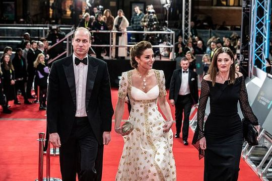 Prince William, Duke of Cambridge and Catherine, Duchess of Cambridge attend the EE British Academy Film Awards 2020 at Royal Albert Hall on February 2, 2020 in London, England. (Photo by Jeff Gilbert - WPA Pool / Getty Images)
