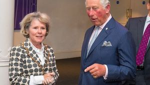 Prince Charles, Prince of Wales meets actress Imelda Staunton at the Old Vic Theatre during a visit to mark the theatre\'s 200th anniversary on September 5, 2018 in London, England. (Photo by Dominic Lipinski-WPA Pool/Getty Images)